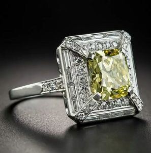New arrival silver s925 faux citrine ring